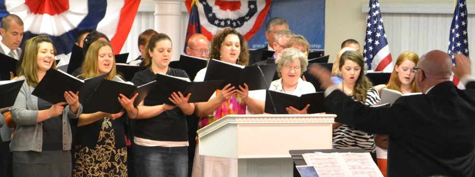 Cedric McCormick leading Patriotic Choir
